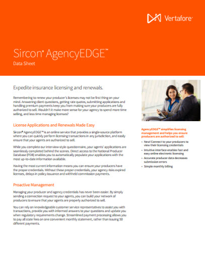 Sircon AgencyEDGE Data Sheet